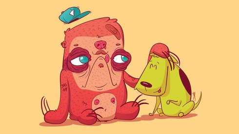 Preguiça e Cão