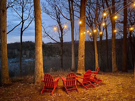 View overlooking the Shenandoah River from the fire pit