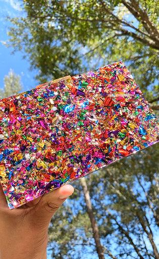 Sparkle Confetti Clutch
