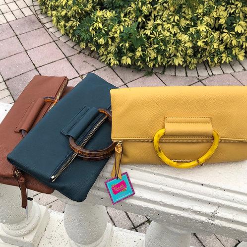 Tortoise Ring City Clutch Bag