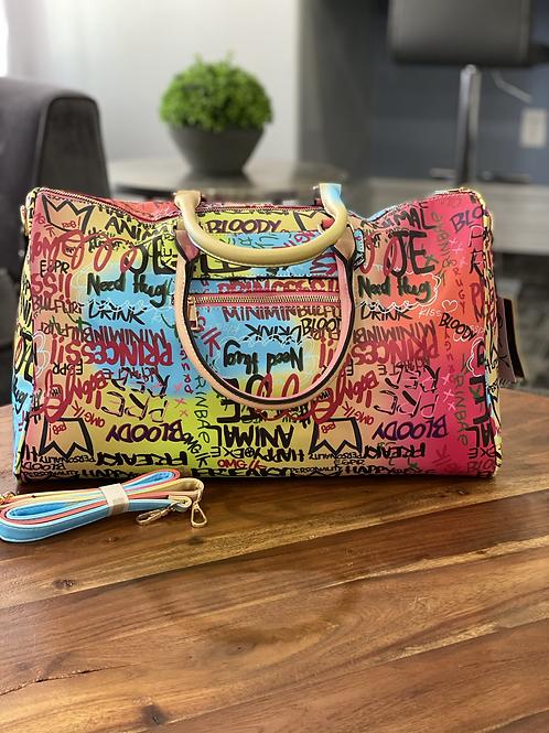 Graffiti Duffle Weekend Bag