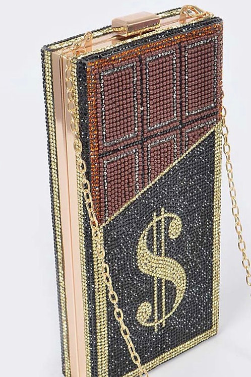 Coco Money Bling Clutch Bag