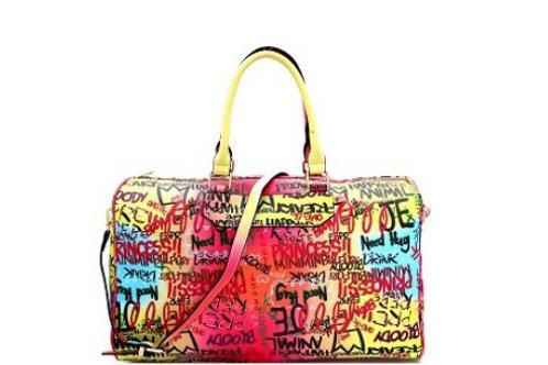 Graffiti Weekender Duffle Overnight Bag
