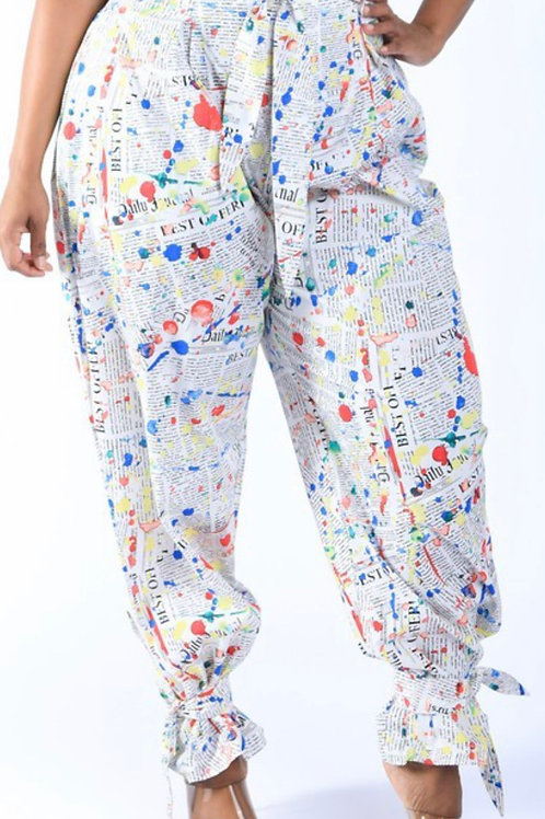 In The News Paper Bag Waist Pants