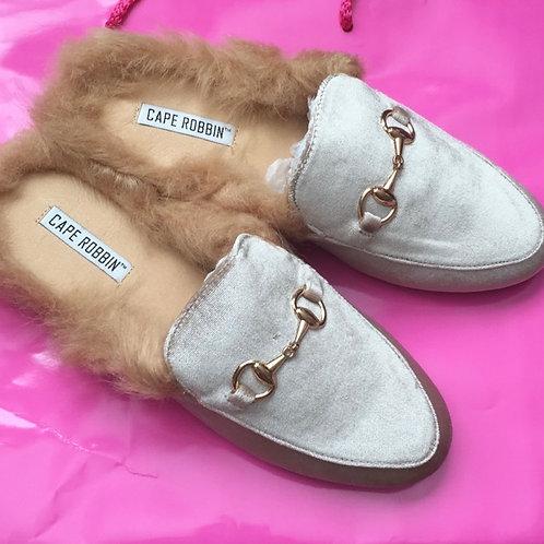 Classy Velvet Fur Slides