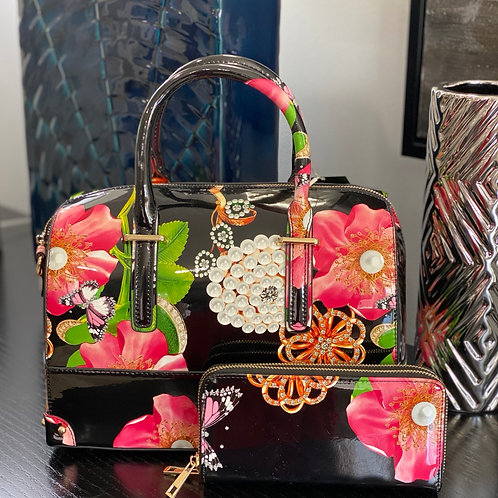 Spring Blossom Boston Bag