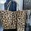 Thumbnail: Tan Reversible Cheetah Tote Bag