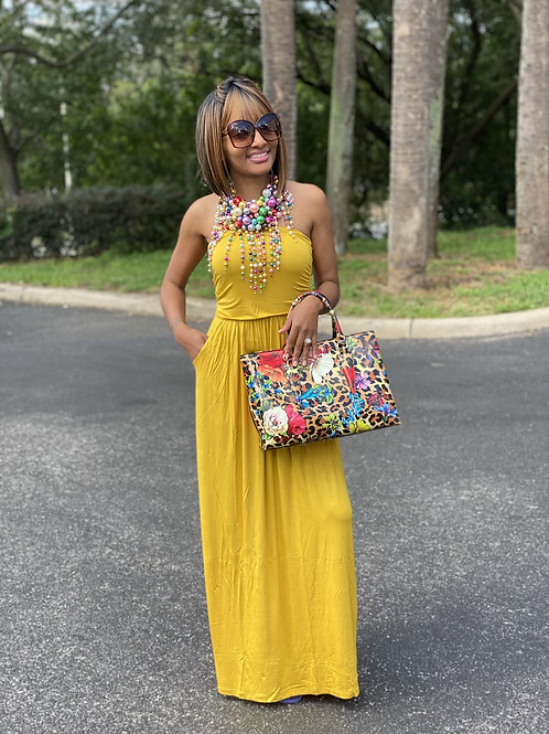 Spring Tube Top Maxi Dress