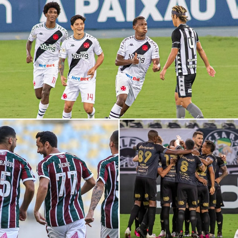 Futebol bem apresentado no Rio de Janeiro, já em Fortaleza...