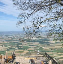 Vista terrazza locanda della Trappa