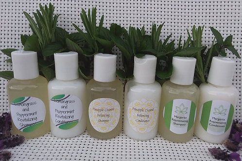Shampoo & Conditioner Samplers/Travellers- 50ml