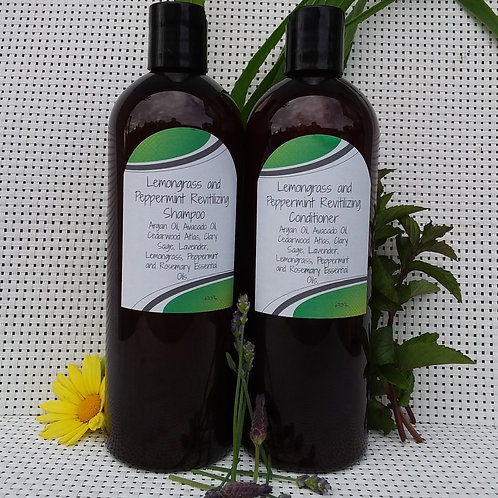 Lemongrass and Peppermint Revitalizing Shampoo and Conditioner