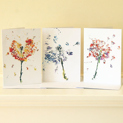 Greetings cards Dandelion Clock Collection (6 Cards)