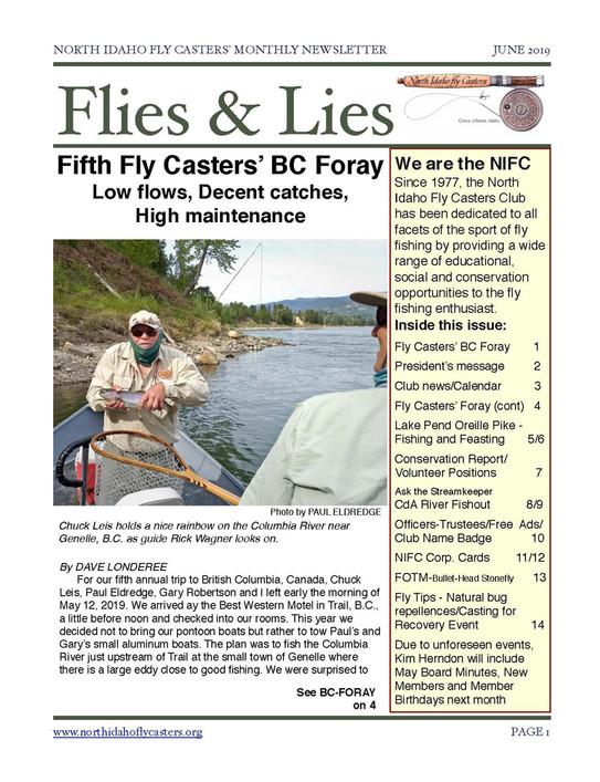2019 June Flies and Lies Newsletter