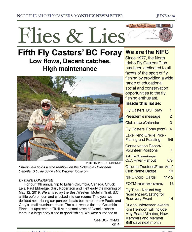 2019 June Flies and Lies Newsletter