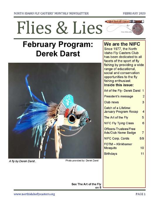 February 2020 Flies and Lies Newsletter