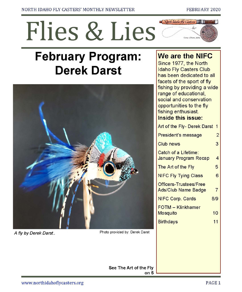 February 2020 Flies and Lies Newsletter