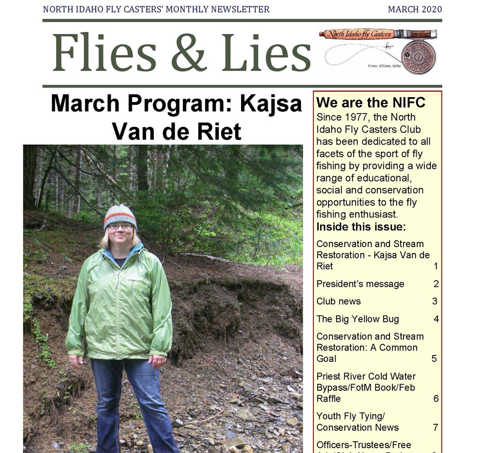 March 2020 Flies and Lies Newsletter