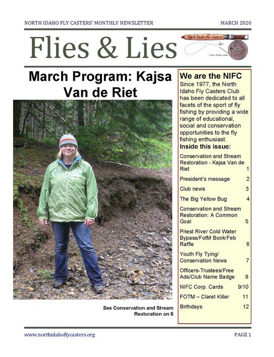 March 2020 Flies and Lies Newsletter