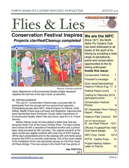 2019 August Flies and Lies Newsletter