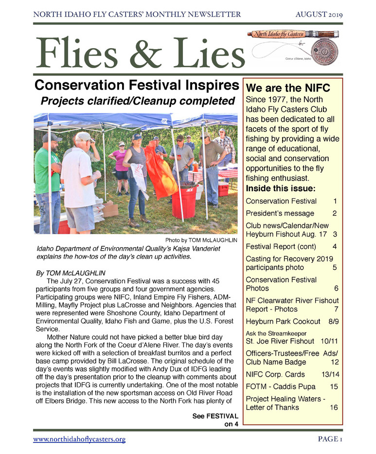 2019 August Flies and Lies Newsletter