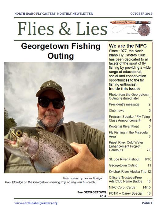 October 2019 Flies and Lies Newsletter