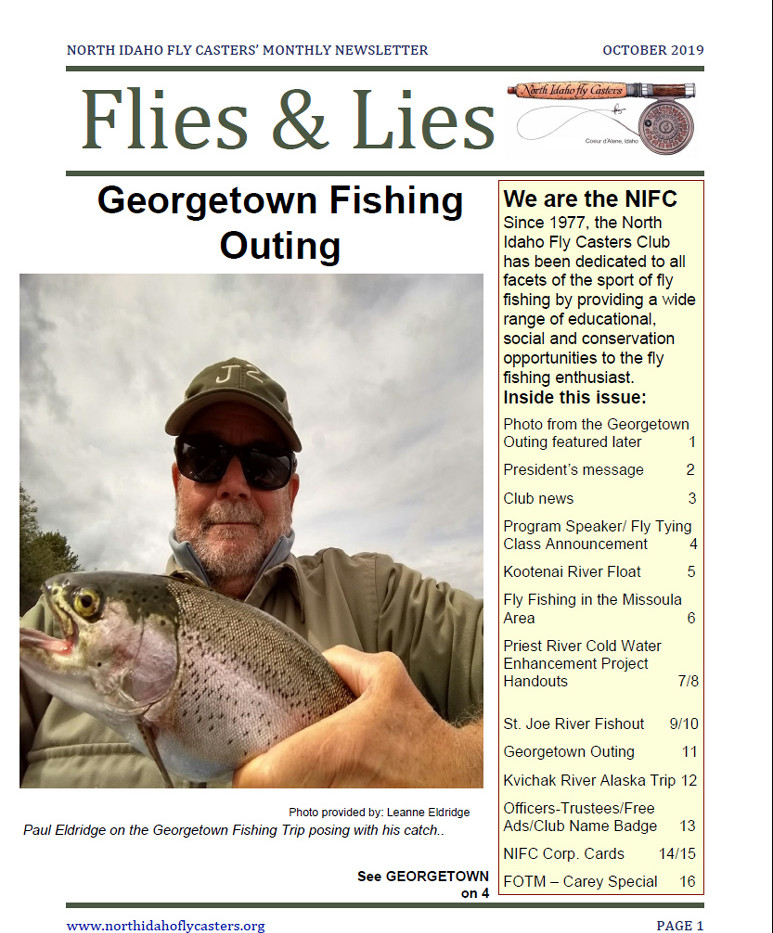 October 2019 Flies and Lies Newsletter