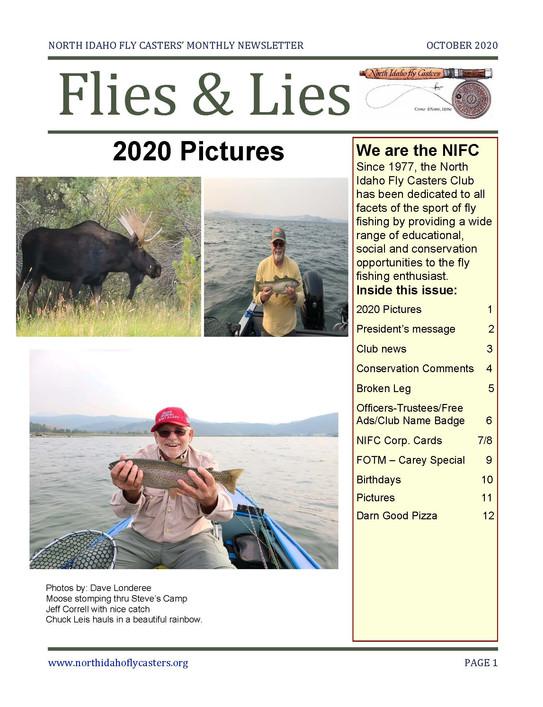 October 2020 Flies and Lies Newsletter