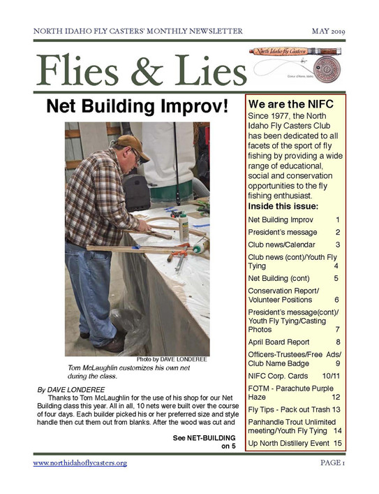 2019 May Flies and Lies Newsletter