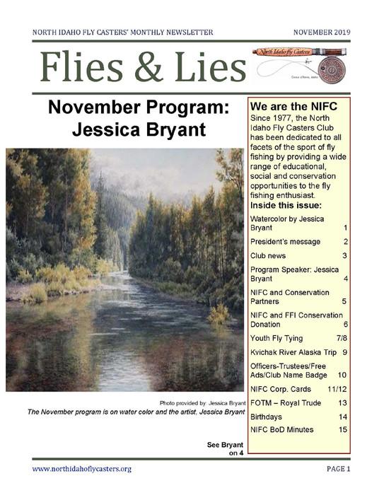 November 2019 Flies & Lies Newsletter