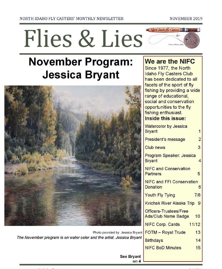 November 2019 Flies & Lies Newsletter