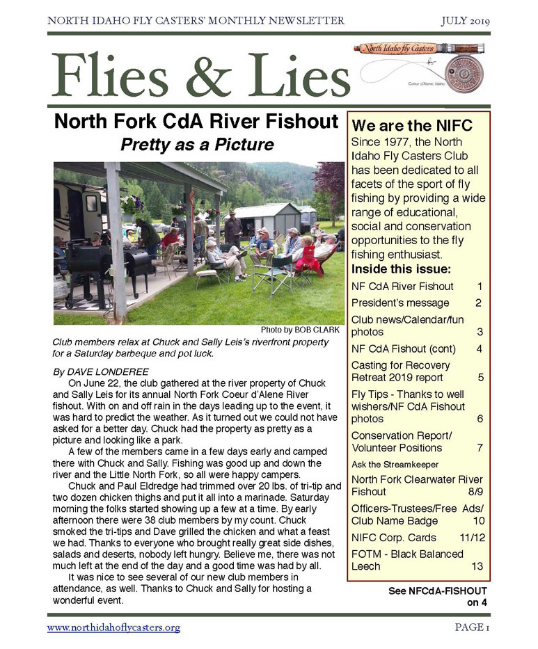 2019 July Flies and Lies Newsletter