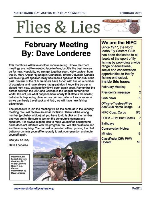 February 2021 Flies and Lies Newsletter