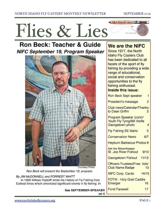 September 2019 Flies & Lies Newsletter