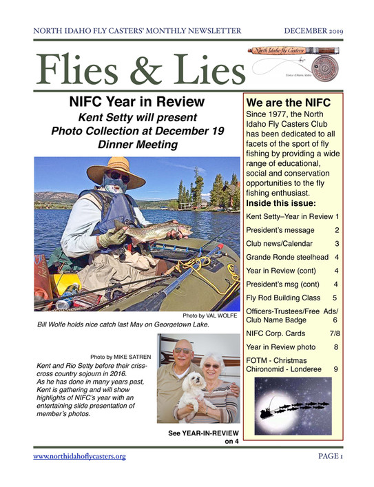 December 2019 Flies & Lies Newsletter