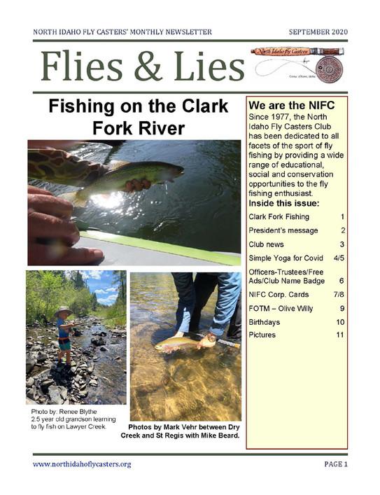 September 2020 Flies and Lies Newsletter