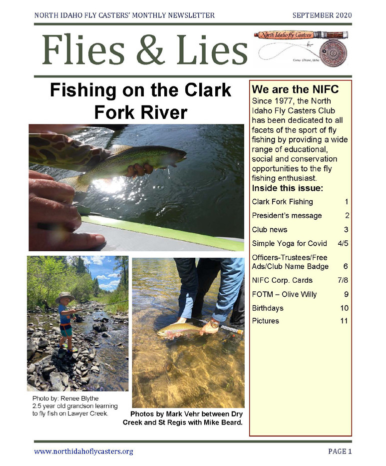 September 2020 Flies and Lies Newsletter