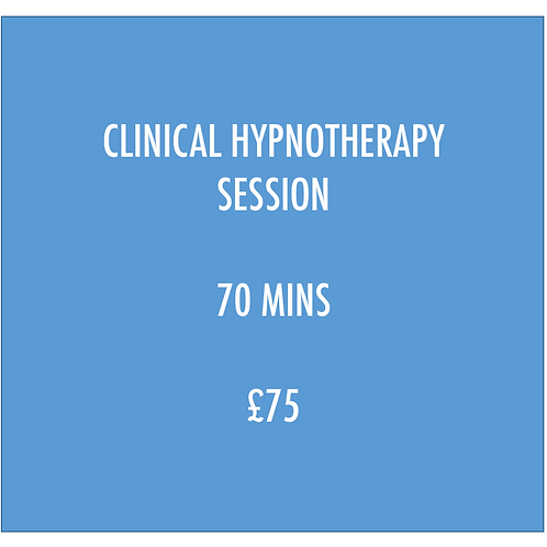 PAY FEE FOR 70 MIN CLINICAL HYPNOTHERAPY SESSION
