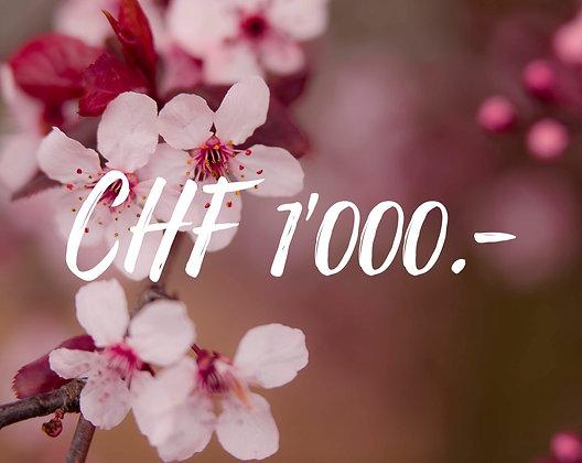 Gutschein CHF 1000.-
