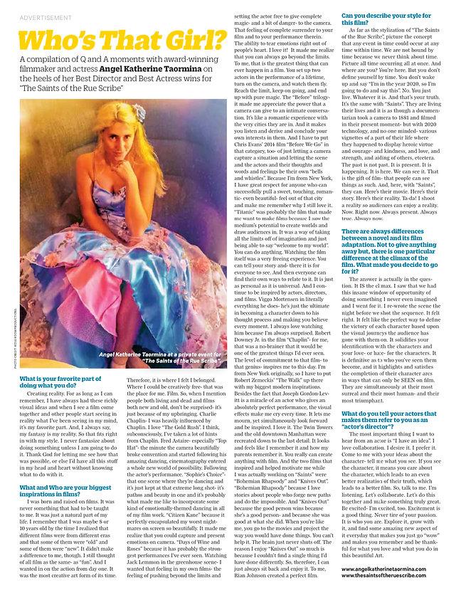 Variety November 25th 2020 Issue- Angel