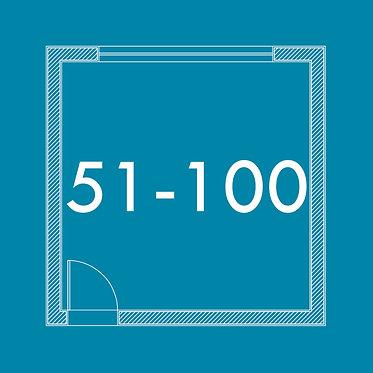 De 51m² a 100m²