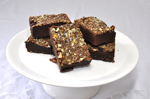 Brownie de Chocolate, nozes e amêndoas - Tudo tortas