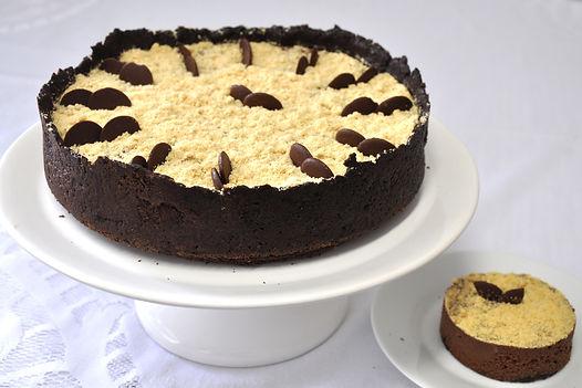 Torta Chocomelo, mousse de chocolate com recheio de doce de leite - Tudo Tortas
