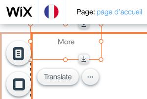 Screenshot of menu with missing links