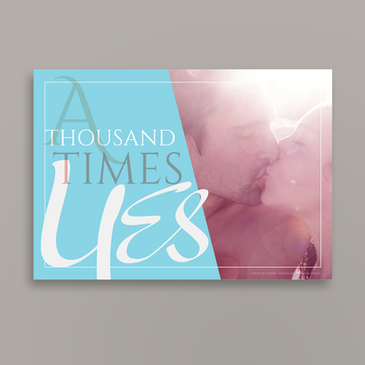 A thousand times YES | Wedding invitation | front