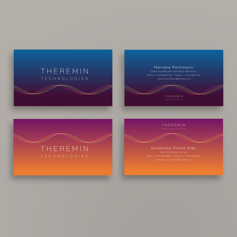 Theremin Technologies | Business card design