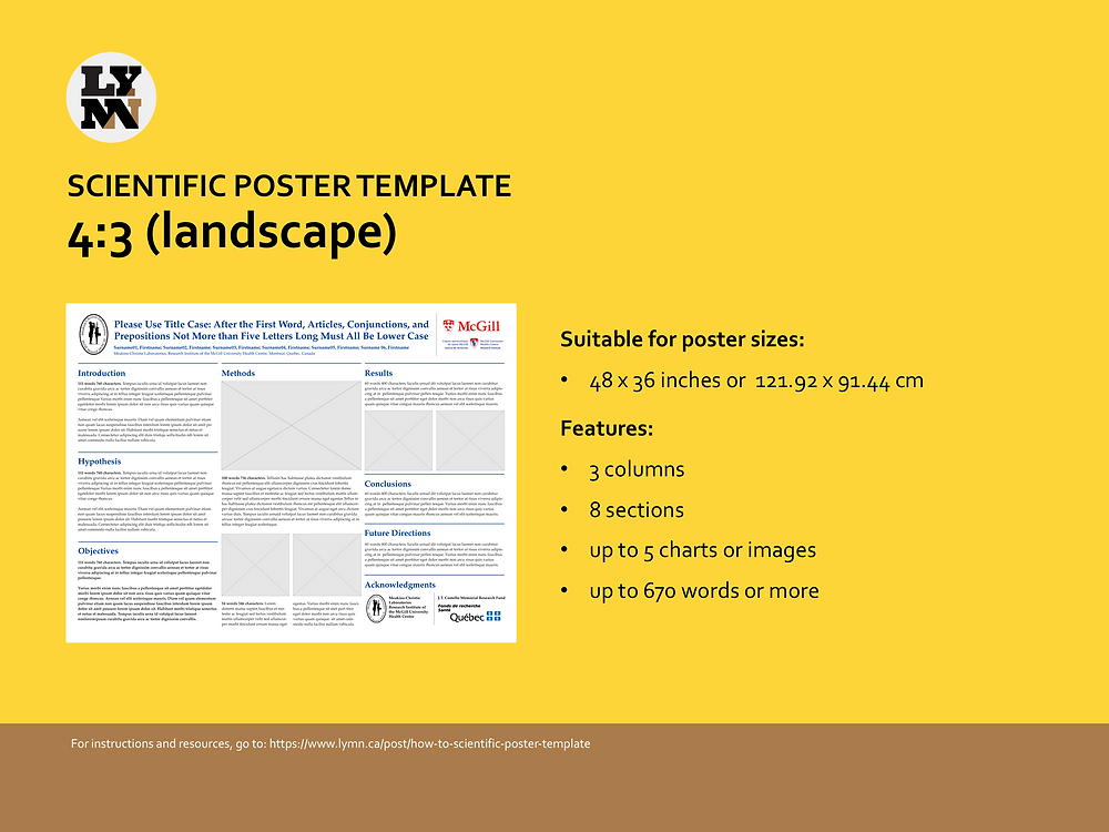 Screenshot of Scientific Poster template - 4:3 (landscape)