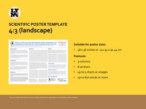 Screenshot of Scientific Poster template - 4:3 (landscape)