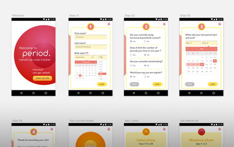 period.   mobile application