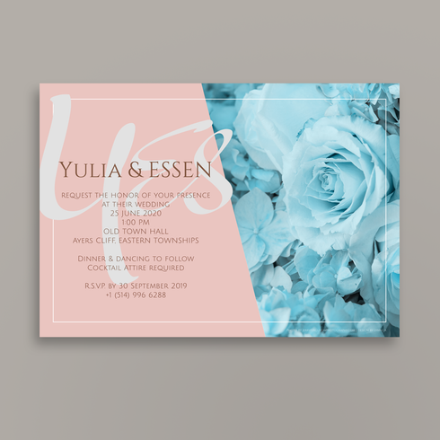 A thousand times YES | Wedding invitation | reverse